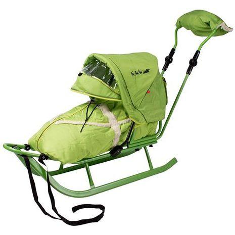 Vehicule pentru copii :: Saniute copii :: Saniute bebelusi :: Saniuta Piccolino DeLux cu Saculet Verde Adbor