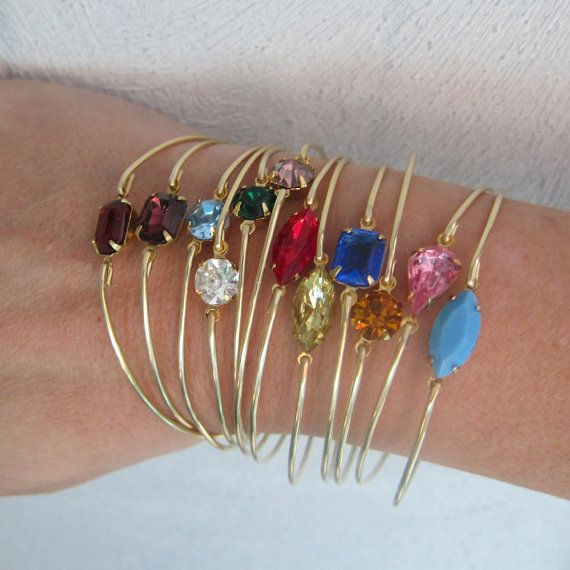 Set of 5 Bridesmaid Bracelets Bridesmaid by FrostedWillow on Etsy, $64.75