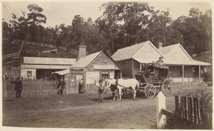 Home Hotel,Launching Place,Victoria circa early 1880s. State Library Victoria.