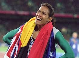 Cathy Freeman was a famous Australian athlete who won a gold medal in the 2000 Olympic Games. She also has the honour of lighting the torch at the Games.