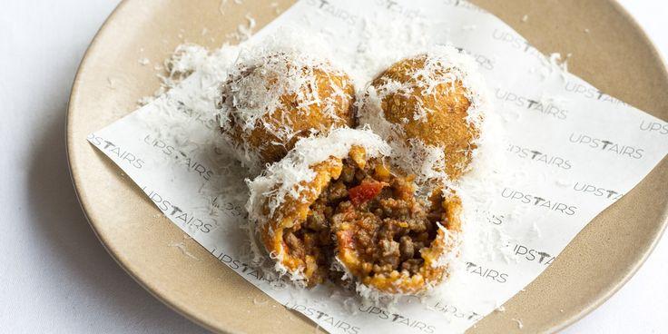 Venison bBolognese Fritters with Parmesan