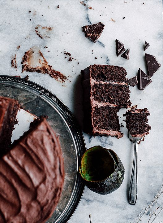 Chocolate Avocado Layer Cake with Whipped Chocolate Buttercream