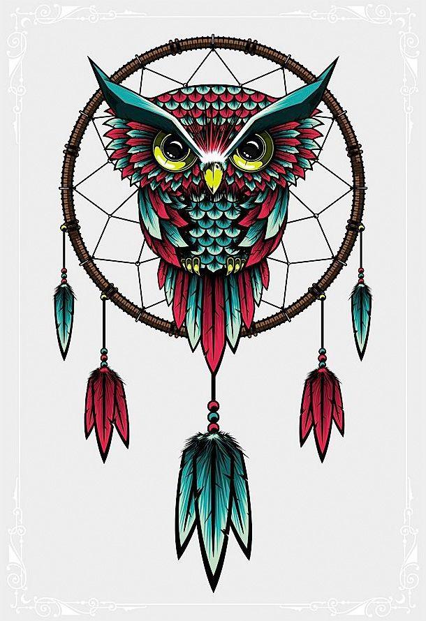 owl dreamcatcher (illustrator unknown)