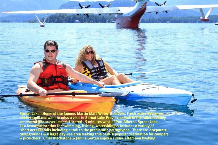 Janine Gortan & Chris Blackstone Kyaking on the beautiful one and only Sproat Lake!