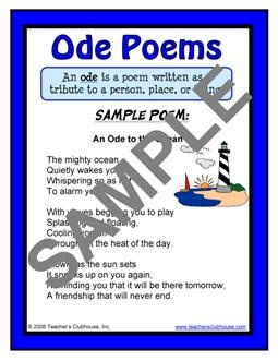 how to write an ode for middle school