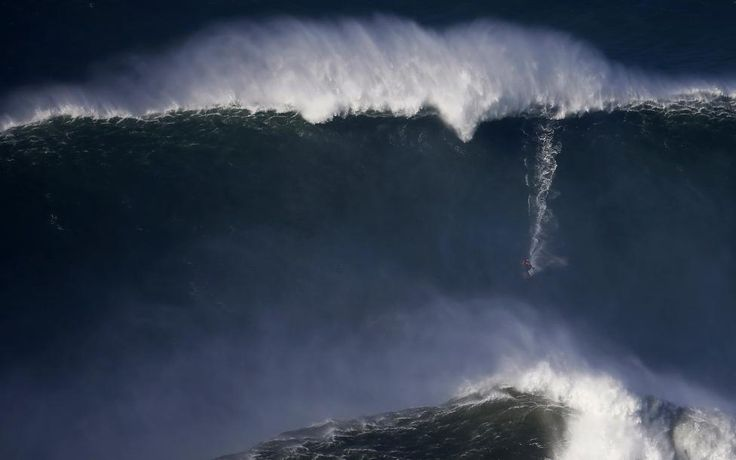 Rafael Marchante Location Nazare, Portugal Reuters / Thursday, December 11, 2014 A surfer drops in on a large wave at Praia do Norte, in Nazare, Portugal, December 11, 2014.