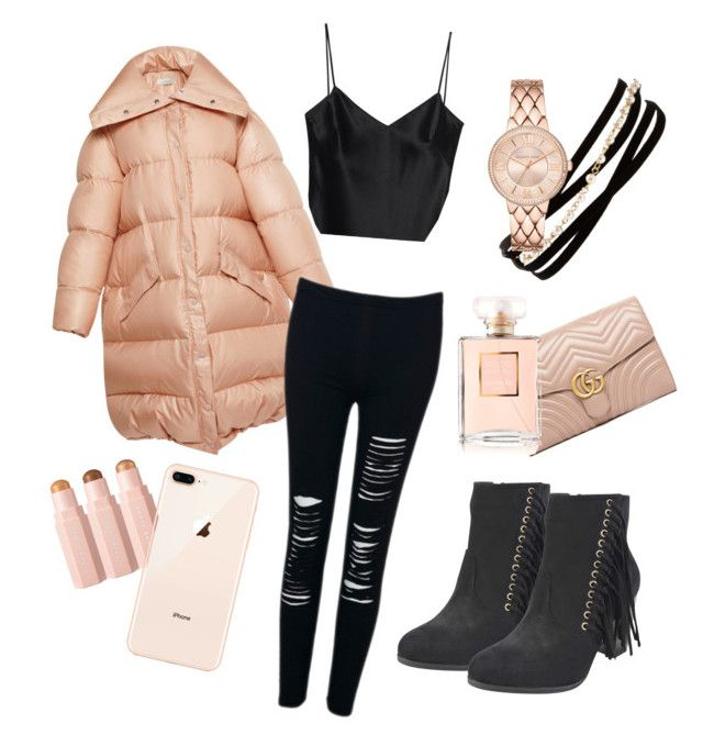 """""""Peach 🍑"""" by marinafmorgan ❤ liked on Polyvore featuring Galvan, Gucci, WithChic, Chanel, Kenneth Jay Lane, modern, Beauty, girly and femalefashion"""