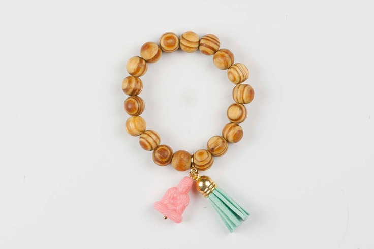 Buddha bracelet Gypsy Soul - Mint / Pink