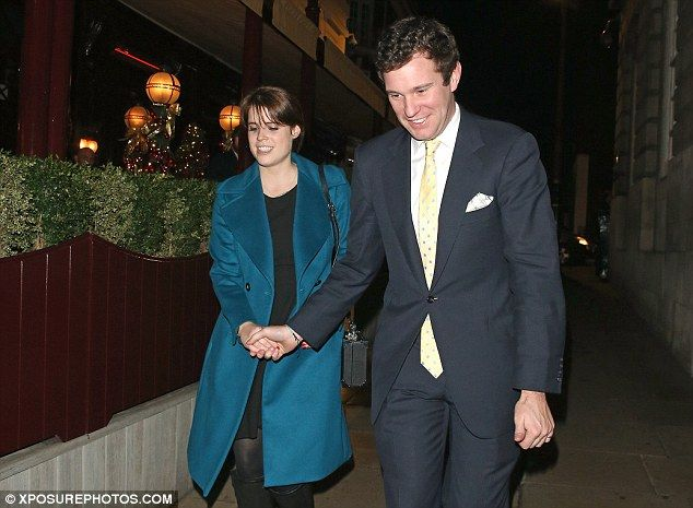 The pair, who met skiing, held hands as they left the members' club in London after a nigh...