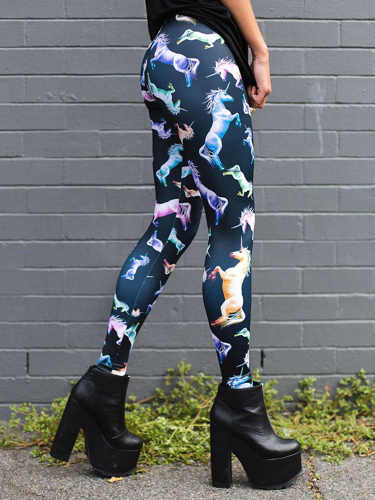 Cotton Candy Corn HWMF Leggings (WW ONLY - 24HR $75AUD) by Black Milk Clothing