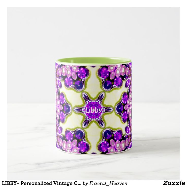 LIBBY~ Personalized Vintage Costume Jewellery ~ Two-Tone Coffee Mug