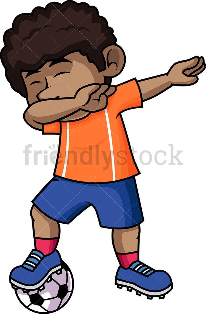 Little Boy Playing Soccer Cartoon Clipart Vector Friendlystock Football Kids Sport Illustration Kids Clipart