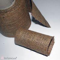 Lucas - Είδη Συσκευασίας: DIY - Κρίκοι για χαρτοπετσέτες από λινάτσα. Λινάτσα 9εκ. διακοσμητική κορδέλα.
