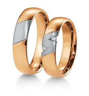 Breuning Trouwringen | Inspiration collectie gouden ringen | 5,5mm briljant 0.06ct verkrijgbaar in 8,14 en 18 karaat | 48041650 / 48041660 OOK in wit geel en rood goud verkrijgbaar of in 2 kleuren goud #trouwringen #breuning #JDBW