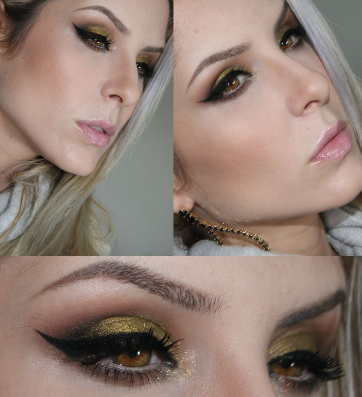 Check out this smokey eye by Claudia Gullien featuring the Makeup Geek Liquid Gold pigment and Immortal gel liner!