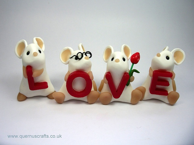 Love Mice by QuernusCrafts, via Flickr