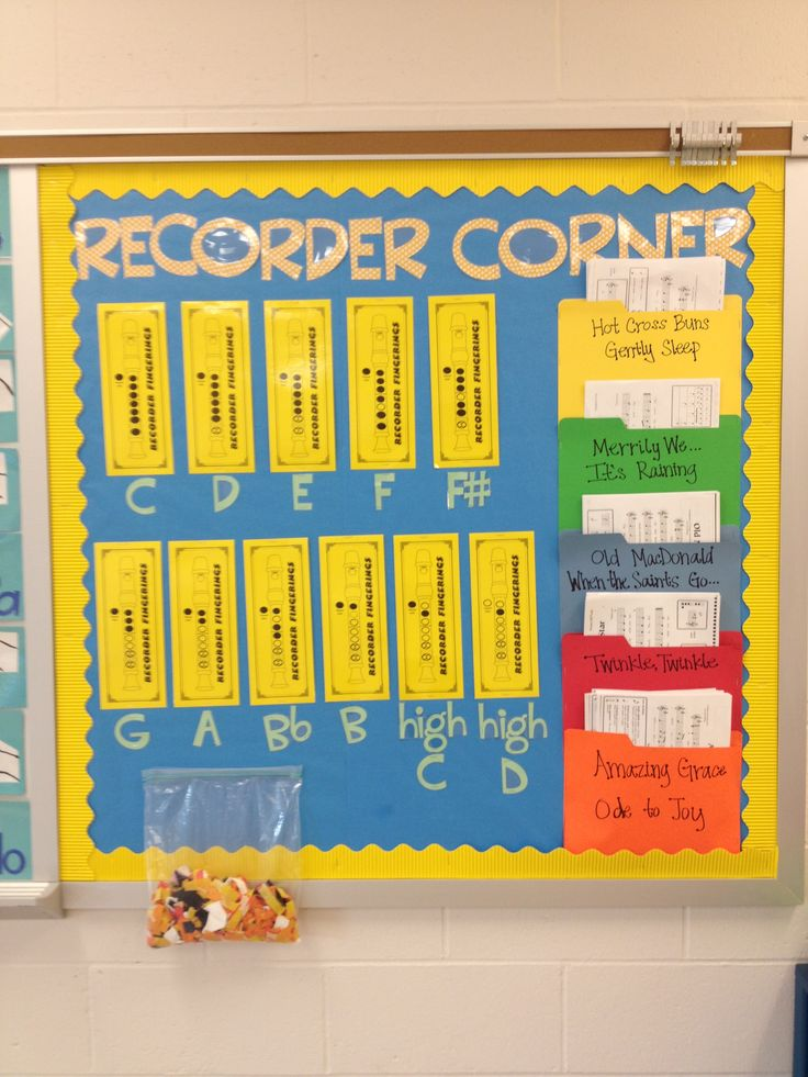 Recorder Corner - Interesting!  If I ever teach 4th grade music again, and actually have a bulletin board, I might want to keep this in mind...
