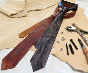 DIY Handmade Leather Necktie Tutorial
