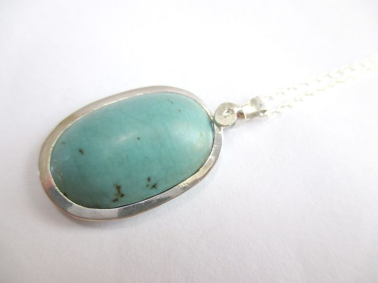 Sterling Silver Turquoise Necklace by Picossa on Etsy
