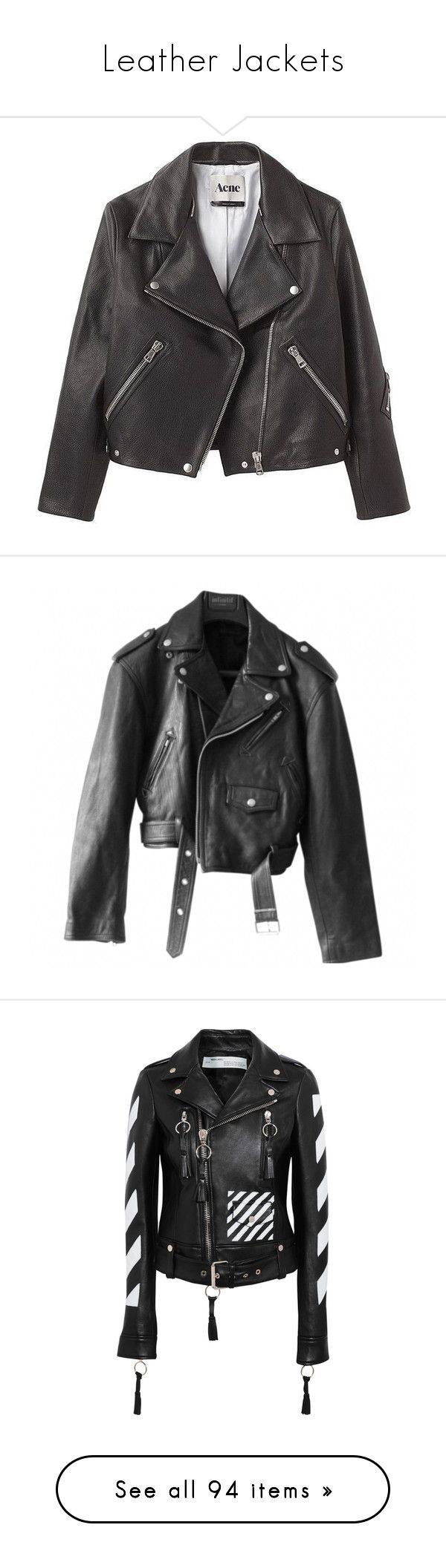 """Leather Jackets"" by vanilla-cupcakee ❤ liked on Polyvore featuring outerwear, jackets, coats, coats & jackets, 100 leather jacket, real leather jackets, genuine leather jackets, leather jackets, leather jacket and leather moto jackets"