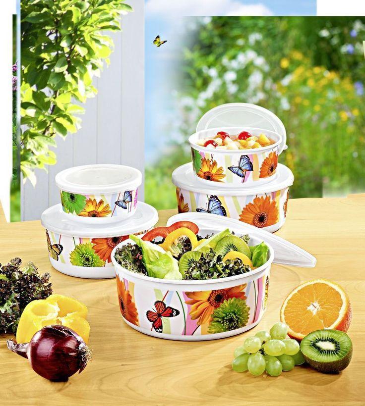 10tlg. Schüssel Set mit Deckel Vorratsdosen Salatschüssel Schalen Obstschale NEU