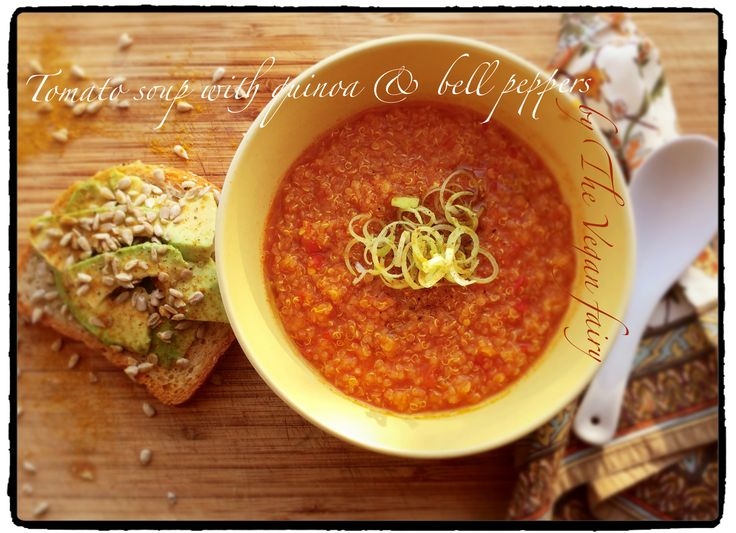 «Tomato soup with quinoa and bell peppers»