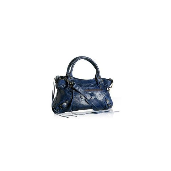 Balenciaga First/Small Classique bag in Indigo ❤ liked on Polyvore featuring bags, handbags, balenciaga, purses, blue, blue bag, balenciaga handbags, hand bags, man bag and balenciaga purse