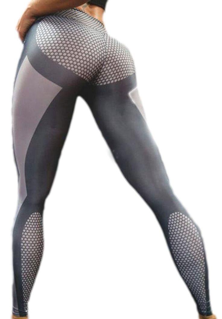 erdbeerloft - Damen Leggings mit Musterprint, Grau, Größe XS: Amazon.de: Bekleidung