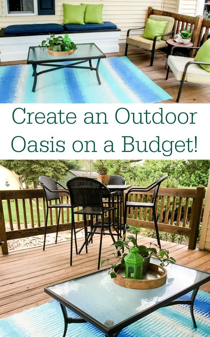how to create an affordable outdoor space
