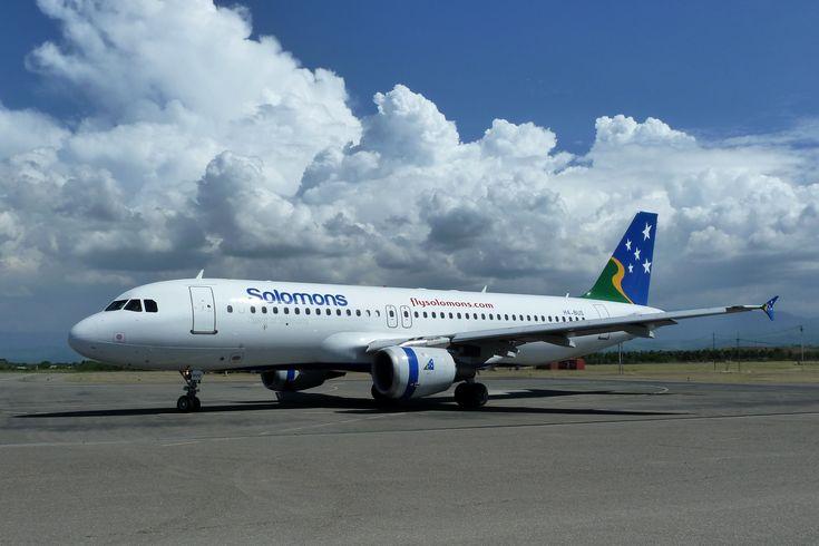 Solomon Airlines | Description Solomon Airlines Airbus A320-211 at Honiara Airport in 2010