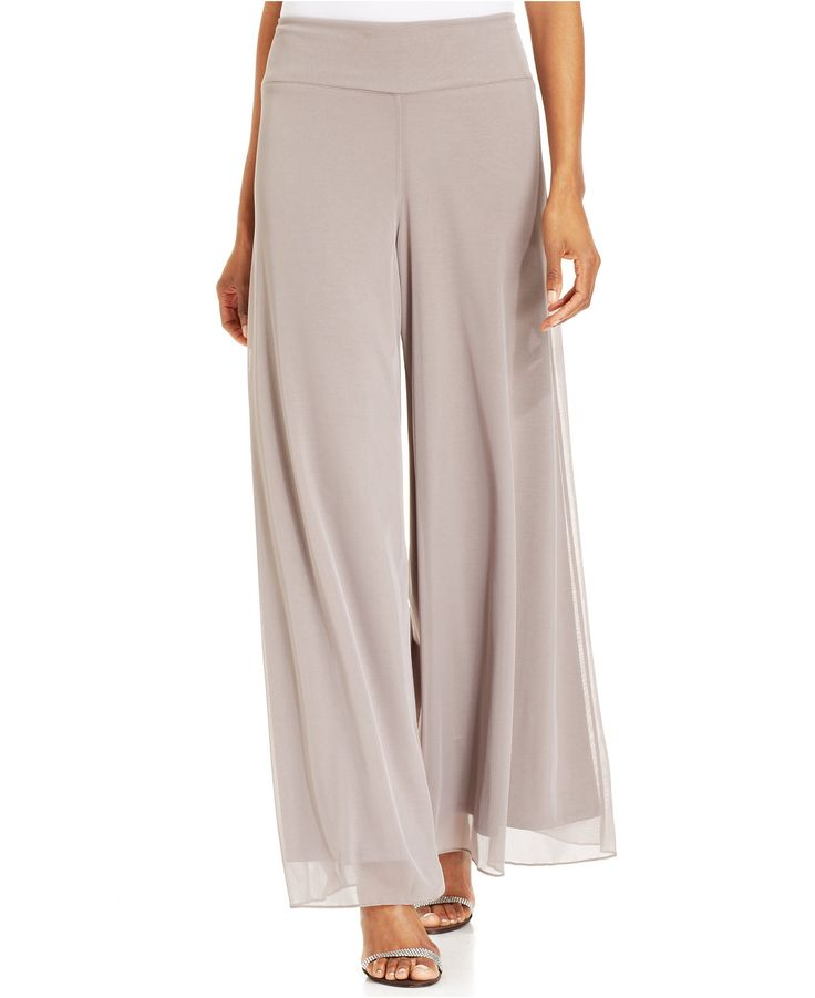 Make your move in Msk's breezy palazzo pants, featuring fluid chiffon and a fit that flatters! | Polyester; lining: polyester | Hand wash | Made in USA | Mid rise: waistband sits below natural waist |