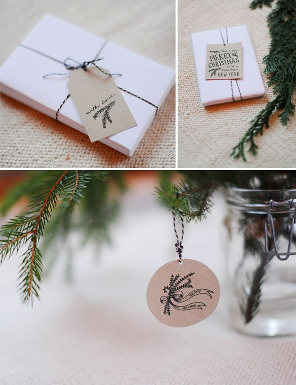 HEY LOOK: hand drawn free printable gift tags