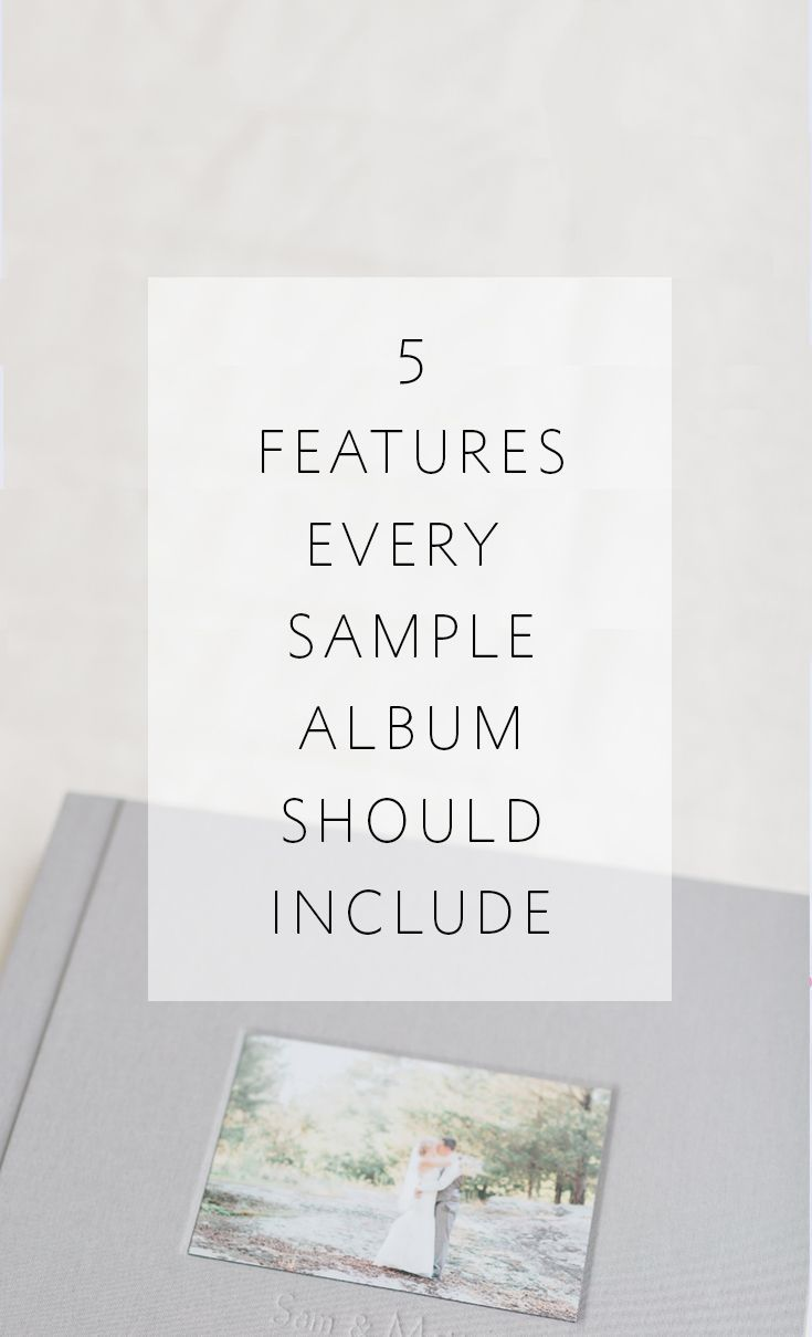 What every professional photographer should include in a sample wedding album!