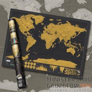Prezent dla podróżnika - Mapa Zdrapka Deluxe: Ministerstwogadzetow.com