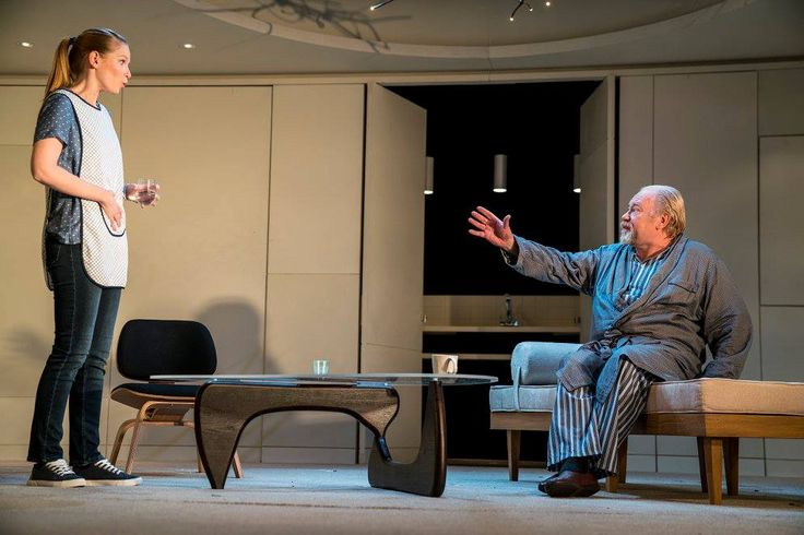 Sophie Robinson and Owen Roe in The Father by Florian Zeller in a translation by Christopher Hampton.  Picture by Pat Redmond