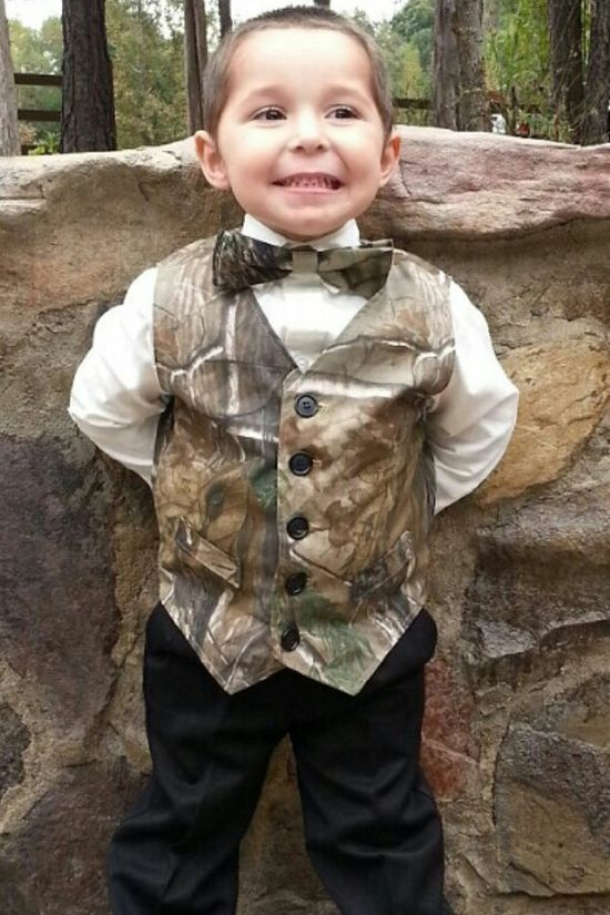 Boys Mossy Oak Break Up or RealTree AP Lined Vest with matching adjustable Bow tie on Etsy, | http://wedding.lemoncoin.org