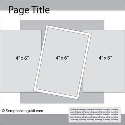 simple scrapbook layouts | Have you been looking for a simple scrapbook layout that you can use ...