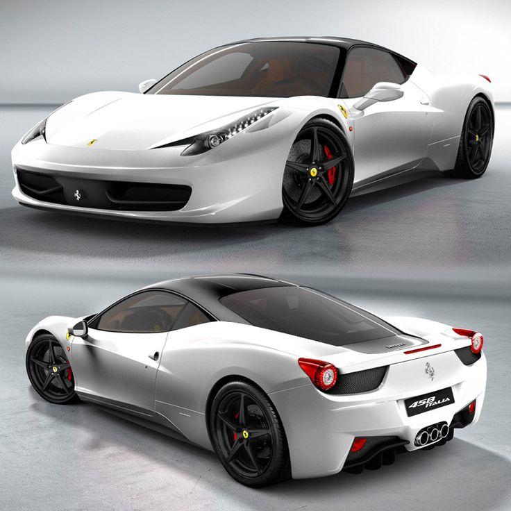 white ferrari 458 with black roof   Ferrari   Pinterest ...