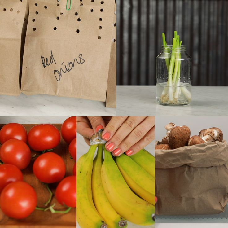 Do you know how to properly store tomatoes, potatoes, green onions, mushrooms and bananas? With these tips, your produce can last longer!