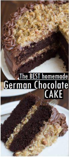 Der BESTE hausgemachte deutsche Schokoladenkuchen mit Kokos-Pekannuss-Zuckerguss und …   – Recipes