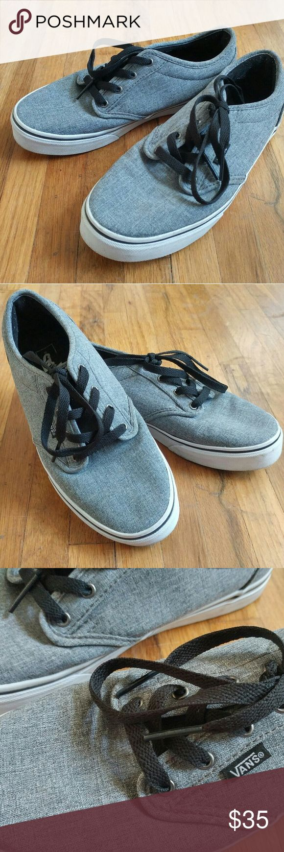 Final Sale!!! Vans Sneakers Vans shoes worn 3-4 times. Classically cute and a comfortable everyday shoe. Although I bought it as a Youth size 5.5 I wear a women's 6.5 to 7 and these fit me although I think this is best suited for ladies who are about a 6.5 size shoe. Vans Shoes Sneakers