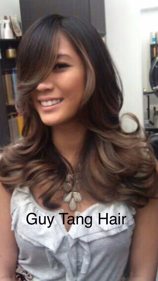 Natural looking caramel Ombre by Guy Tang