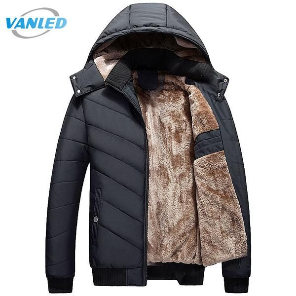Winter Parka Men 2017 New Men's Jacket Casual Hooded Padded Coat Mens Thick Warm Parka Men Outwear Jacket Male Clothing #jackets #fashion