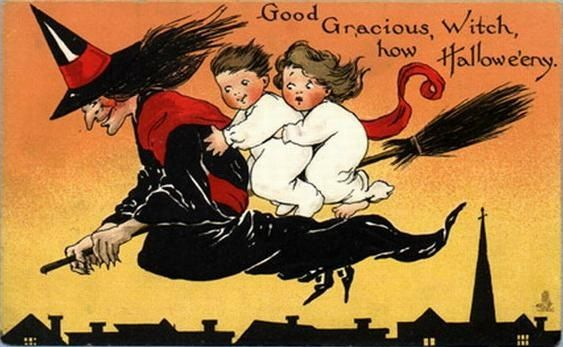 vintage halloween images vintage halloween witches and vintage halloween cards - Vintage Halloween Witches