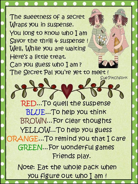 Secret Pal MM by CindisCandyCreations on Etsy