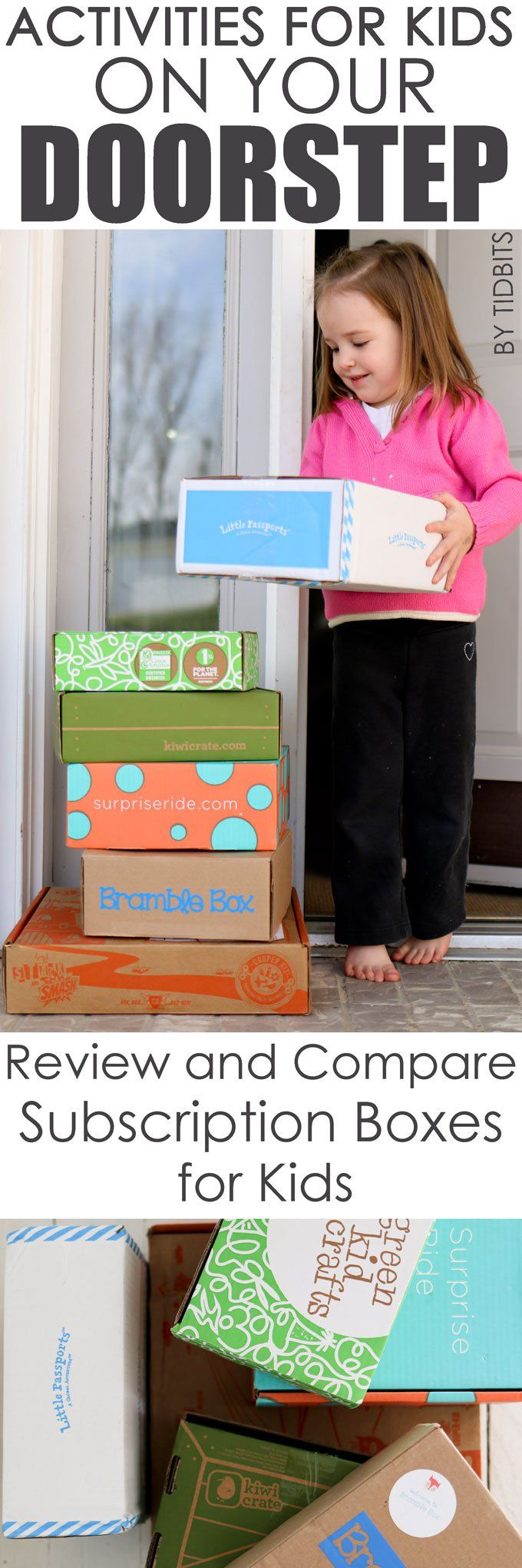 Activities for Kids on Your Doorstep. Review and compare subscription boxes for kids.