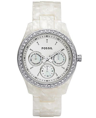 Saw this watch in the fun shop on the cruise ship and can't stop thinking about it!!!  Fossil Mother Of Pearl Watch