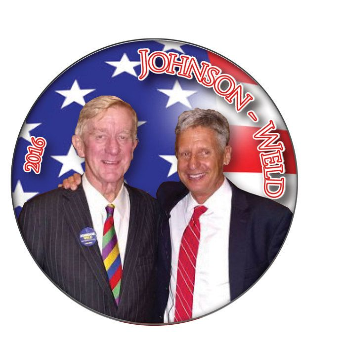 "JOHNSON & WELD Libertarian Candidates 3"" CAMPAIGN Pin Back Button Presidential Candidate 2016 by Badgelady117 on Etsy"