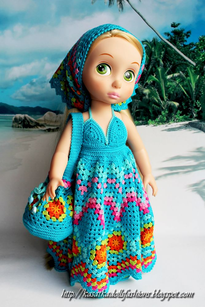 Doll Clothes / Disney Animator Doll Rapunzel / Crochet