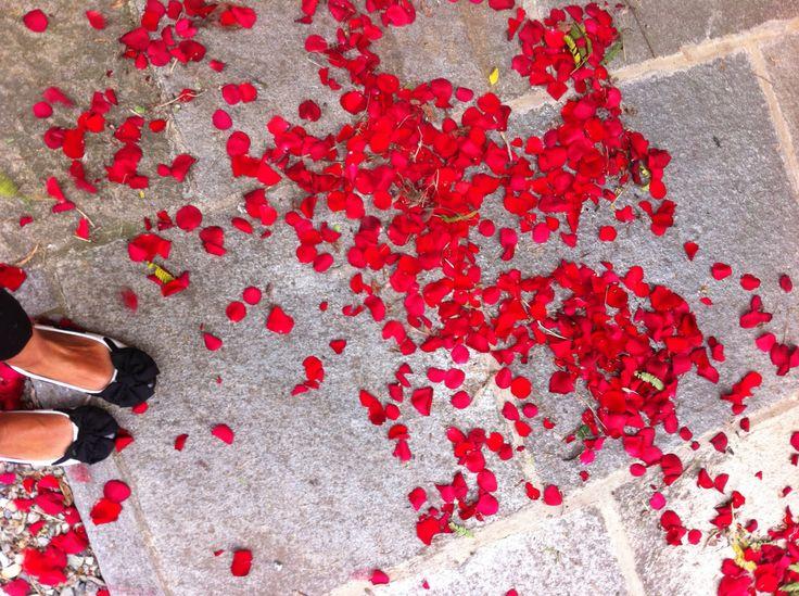 petali rosso passione! ballerine da wedding planner